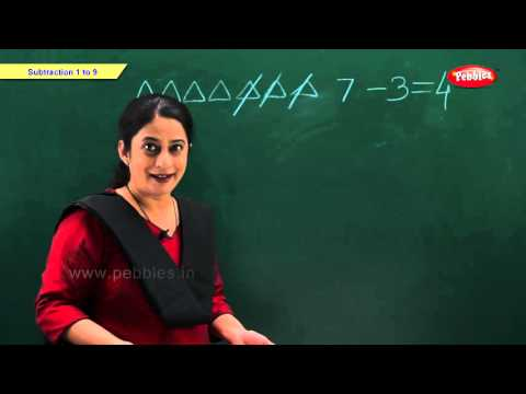 Subtraction 1 to 9 | Maths for Kids | Kindergarten Maths School Syllabus | Maths For Pre School