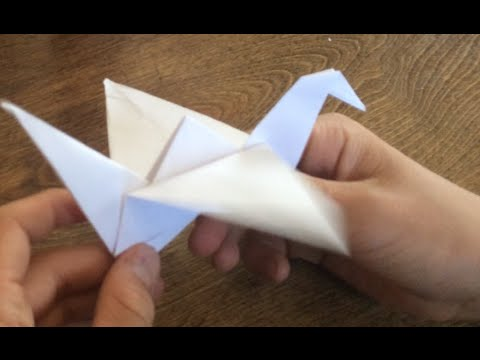 How To Make A Paper Bird That Flaps its wings EASY!