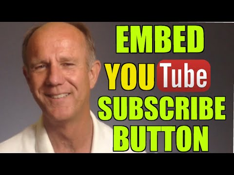 How To Embed A YouTube Subscribe Button On Your Website