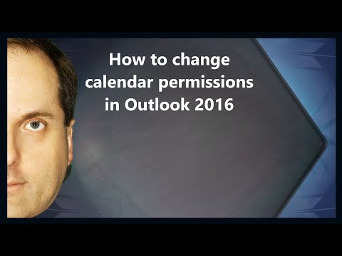 How to change calendar permissions in Outlook 2016