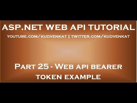 Web api bearer token example
