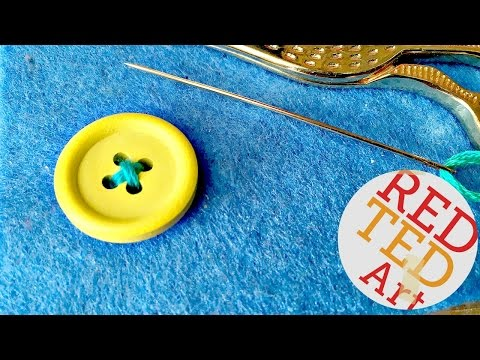 How to sew a Button (Craft Basic Sewing)
