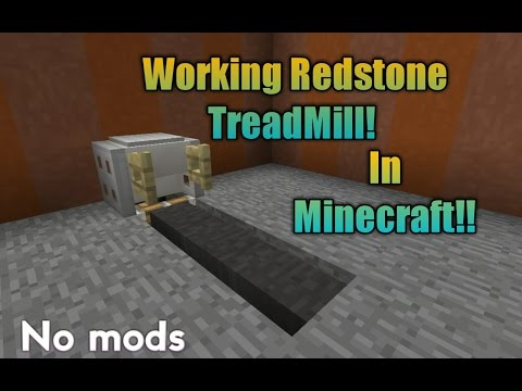 How To Make A Working TreadMill In Minecraft //