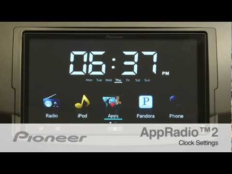How To - AppRadio 2 - Clock Settings