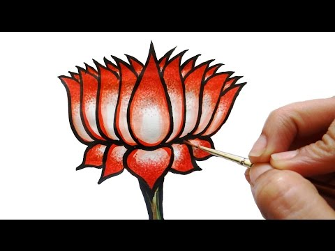How to draw a lotus | mural art