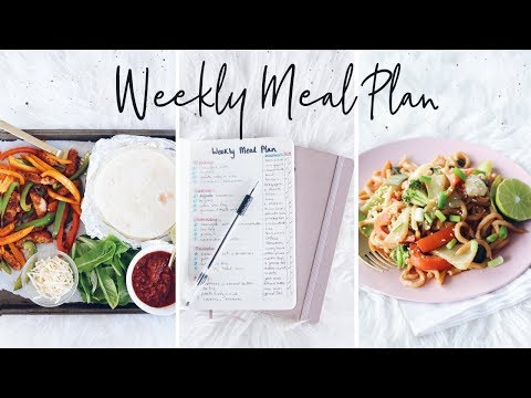 My Weekly Meal Plan + Recipes