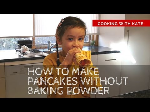 How to make pancakes 🥞 without baking powder or soda: Baking with Kate