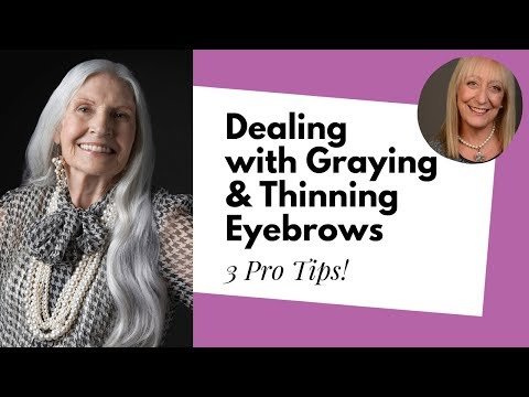 Greying and Thinning Eyebrows Got You Down? Here Are Some Useful Makeup Tips!