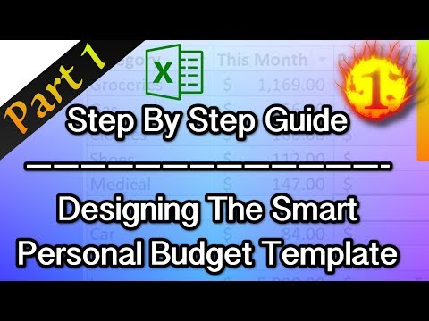 Excel Tutorial | Design The Smart Personal Budget Template - Part 1