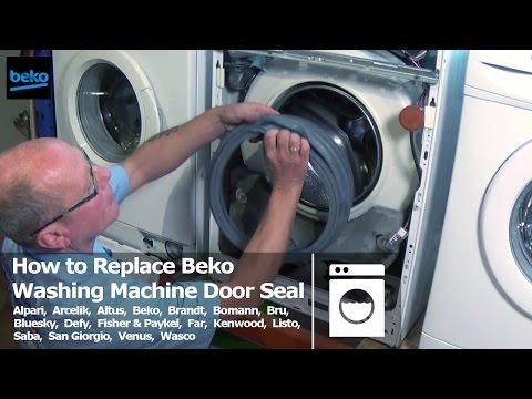 How to replace beko washing machine door seal