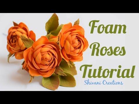How to make Foam Roses/ Foamiran Rose Flowers