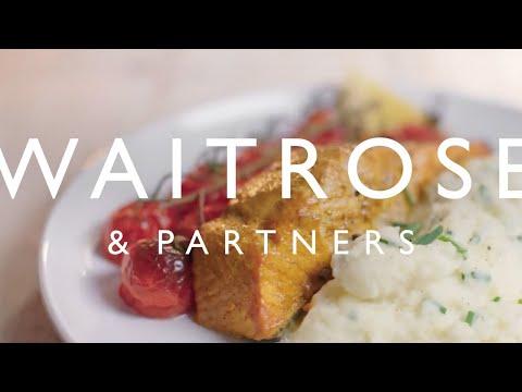 Tikka Salmon With Roasted Tomatoes And Chive Mash | Waitrose