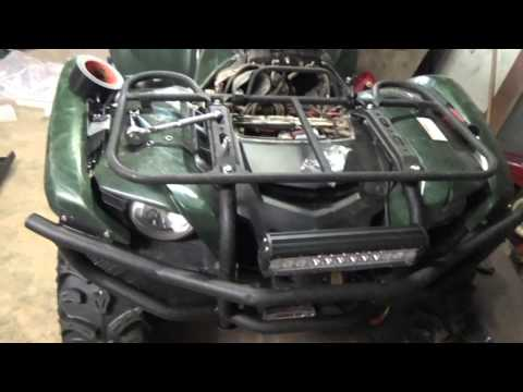 How to:  Yamaha Grizzly 550 / 700 HD Bumper & LED Light Bar Install