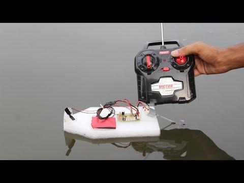 How to make remote control mini Boat two motors