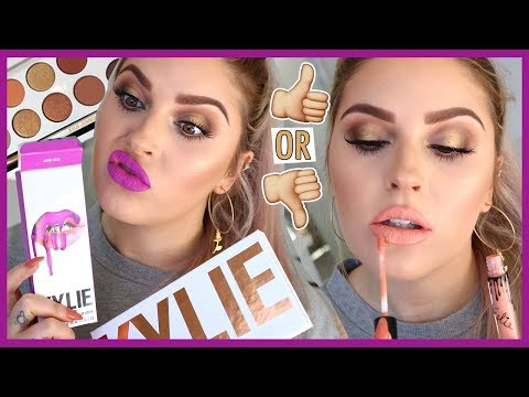 KYLIE COSMETICS Makeup Tutorial & Swatches 💸 & GIVEAWAY 💕