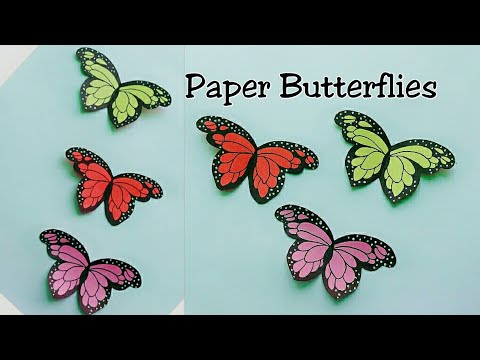 How to make Butterfly with Paper/Paper Butterfly Making/3D Butterflies