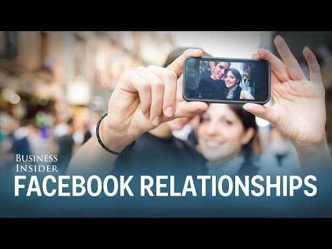 Posting about relationships on Facebook