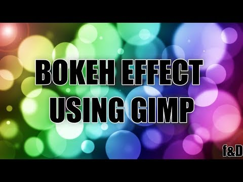 How to create Bokeh Effect Background in GIMP | Photoshop Alternative | #77