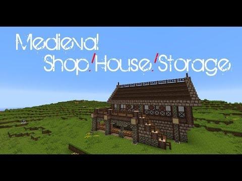 Minecraft - Medieval Shop/House/Storage tutorial