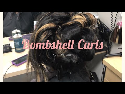 How to curl weave/ Big bouncy curls