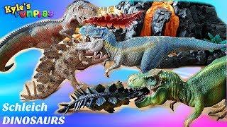 Download DINOSAUR LAND Pretend Play | GIANT VOLCANO with T REX | Schleich Dinosaurs Video