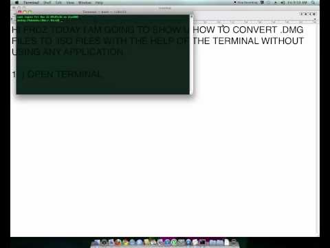 HOW TO CONVERT DMG TO ISO IN MAC OS X