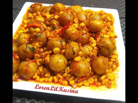 Baby Potatoes with Sweet Corn / Side Dish Recipe