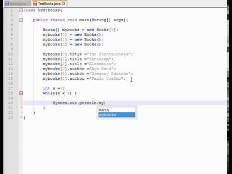 Simple Books Stack program  in Java using Arrays