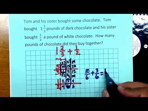 5.3H Adding and Subtracting fractions with unlike denominators using ratio tables