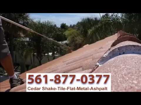 TILE ROOF PAINTING COST REPAIR & HURRICANE SEALER - WEST PALM BEACH GARDENS BOCA RATON JUNO BEACH