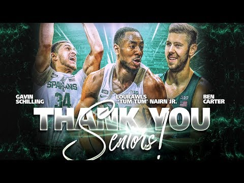Michigan State Basketball Senior Night 2018 (02/20/2018)
