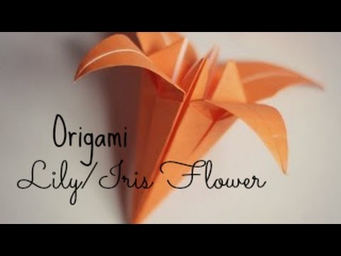 (HD) Origami Lily/Iris Flower Origami Instructions