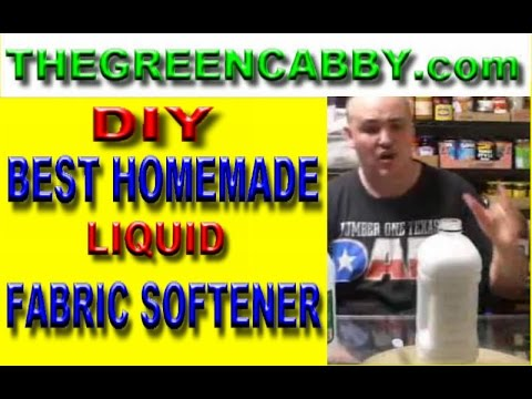 DIY BEST NATURAL HOMEMADE DOWNY LIQUID FABRIC SOFTENER - HOW-TO FRUGAL RECIPE  FABRIC SOFTNER