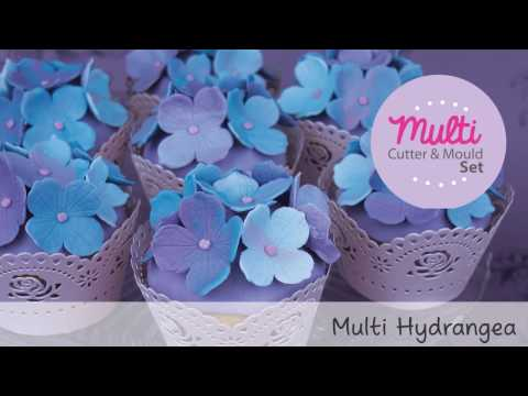 Quick and Easy Icing Hydrangea Tutorial Multi Size - Blossom Sugar Art