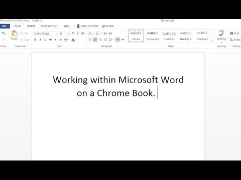 Microsoft Word on a Chromebook, Also Excel, and Powerpoint- for Free