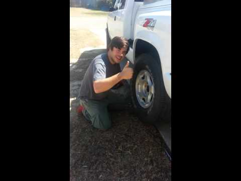 How to remove a stuck tire.