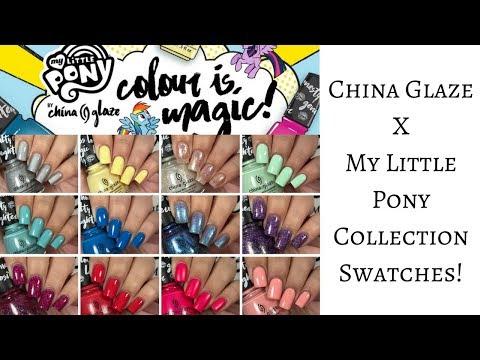 China Glaze X My Little Pony Nail Polish Collection (SWATCHES)