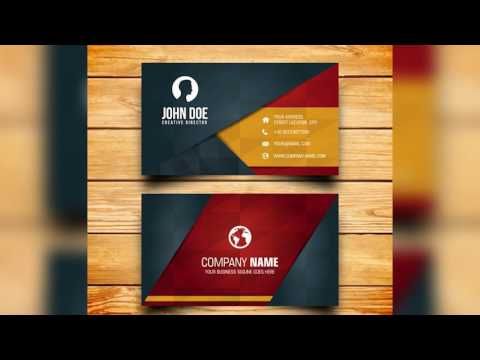 Business card design - Free Photoshop Template