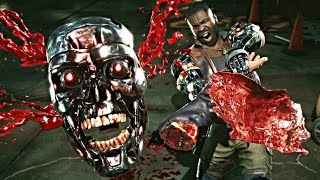 Mortal Kombat 11 - ALL Fatalities On Terminator T-800!!