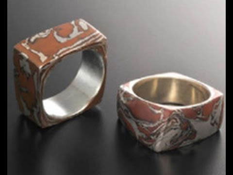 Jackie Truty, a Metal Clay Expert Creates Marbled Rings on Beads, Baubles & Jewels (1806-1)