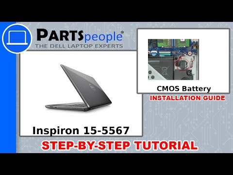 Dell Inspiron 15-5567 (P66F001) CMOS Battery How-To Video Tutorial