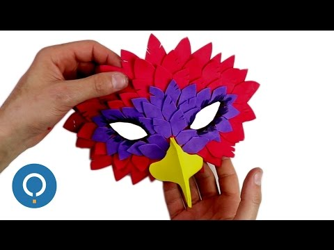 DIY Bird Mask - EVA foam crafts