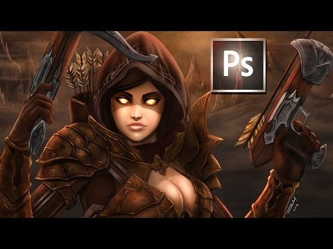 Digital Painting tutorial Adding Highlights and Textures in Photoshop with Blending Modes