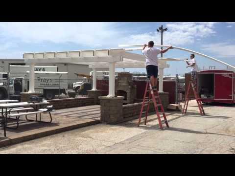 Heartland Pergolas Roof Installation