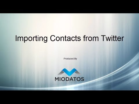Importing Contacts from Twitter
