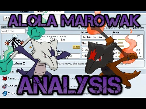 Pokemon Showdown: Alola Marowak Analysis / Viable Sets