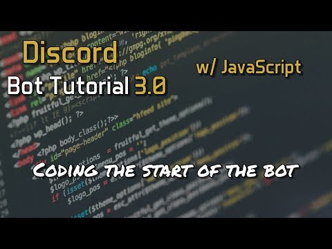 Discord Bot Tutorial 3.0 - Coding The Start Of The Bot [2]