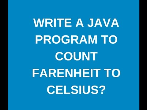 Write a java program to convert Fahrenheit to celsius?