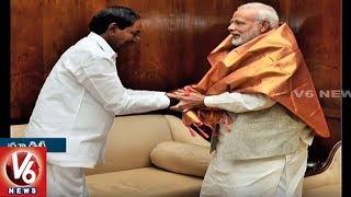 CM KCR Meets PM Modi | Seeks Assistance For State Development | New Delhi | V6 News