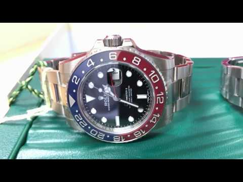 ROLEX GMT PEPSI SELLING FOR DOUBLE STICKER ON SECONDARY MARKET